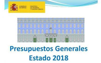 Medidas fiscales aprobadas por la Ley de Presupuestos Generales del Estado 2018