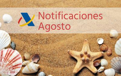 Notificaciones de Hacienda durante las vacaciones de verano