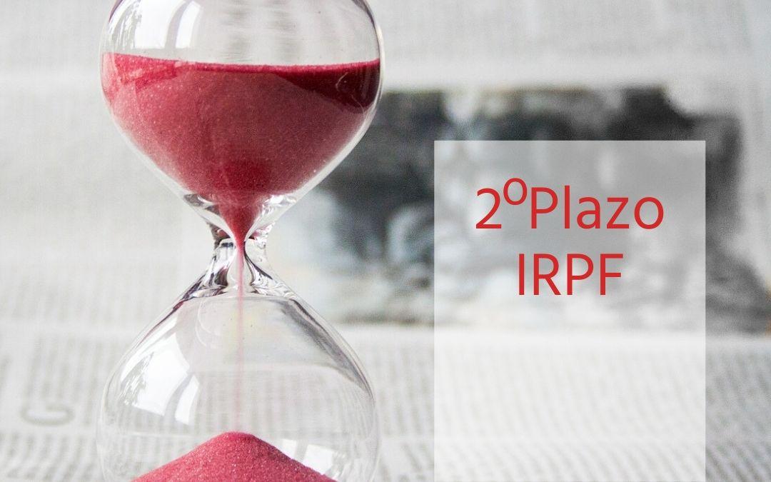 Ingreso del 2º plazo de la declaración anual del IRPF. Noviembre 2019