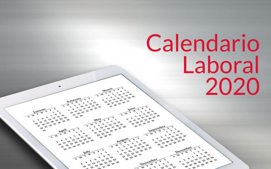 Publicado el calendario de fiestas laborales para el año 2020