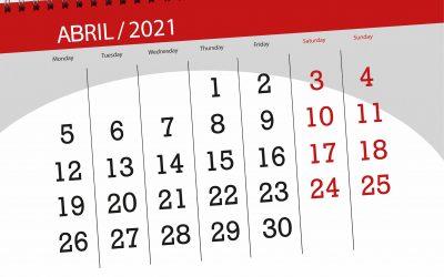 COVID-19. Recordatorio abril 2021: Declaraciones de IVA, retenciones, pagos fraccionados, Renta y Patrimonio